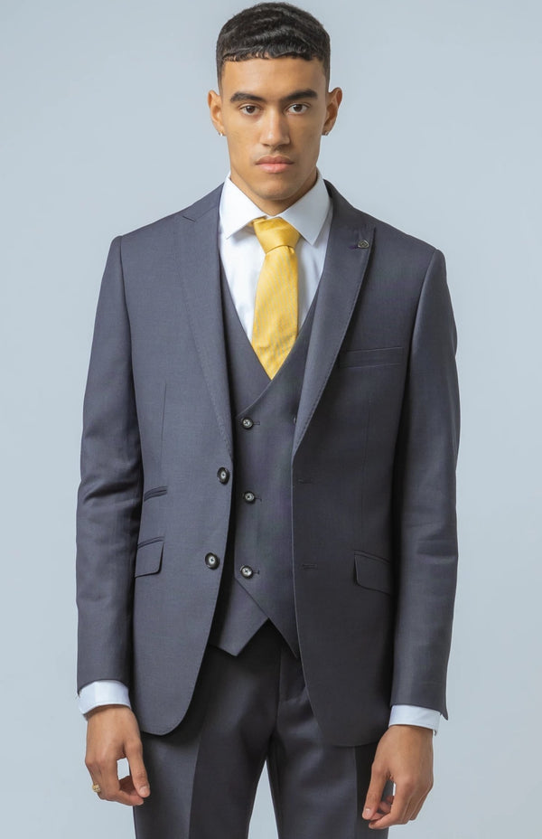 Dylan Dolphin Grey Double Breasted Waistcoat Suit