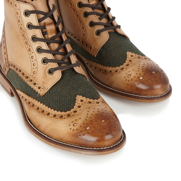 London Brogues Gatsby Boots | Mens Tweed Boots | Mens Tweed Suits