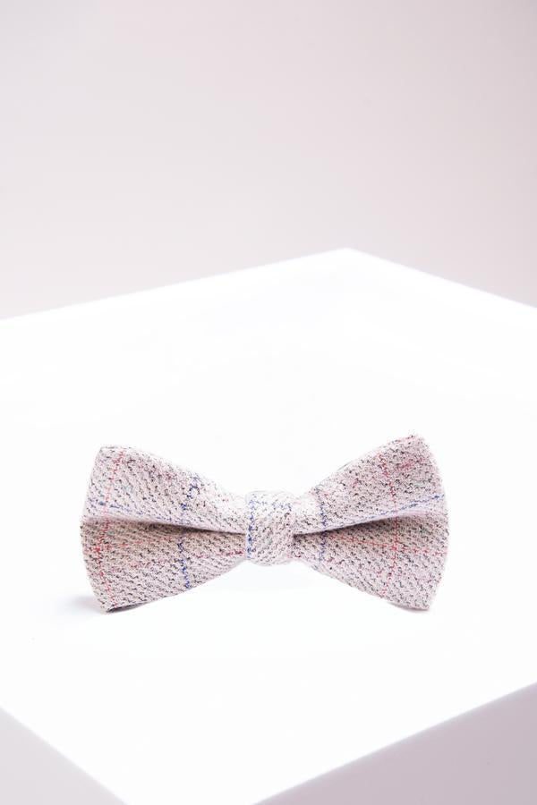 HARDING - Cream Check Tweed Bow Tie | Marc Darcy