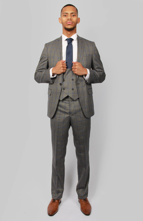Dante Check Suit | Floretti | Mens Tweed Suits marc darcy grey wedding suit dinner  2019 fashion london