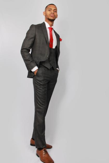 Mens Grey Check Suit by Floretti - Mens Suits | Menstweedsuits