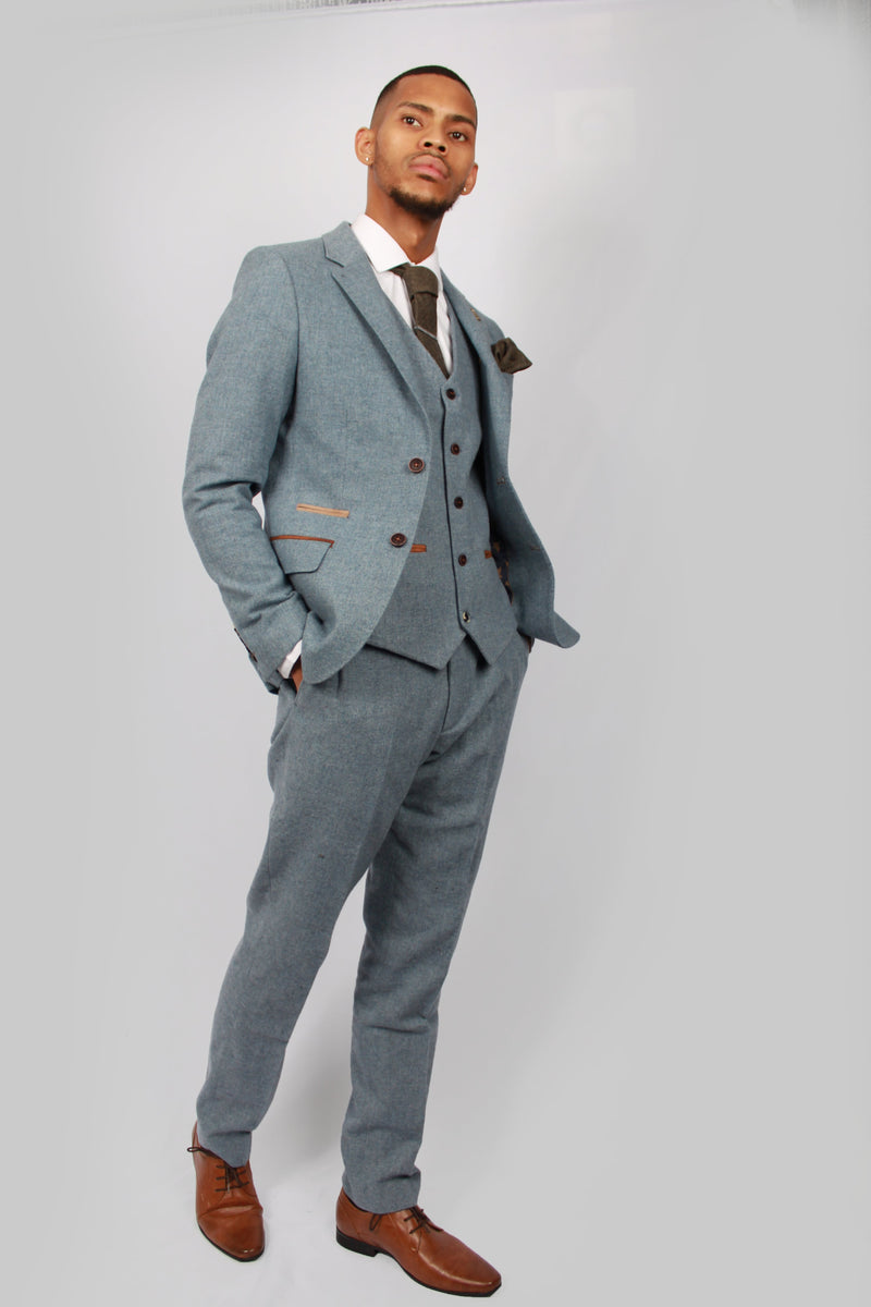 Kaos Blue Tweed Suit | Fratelli Uniti | Mens Tweed Suits