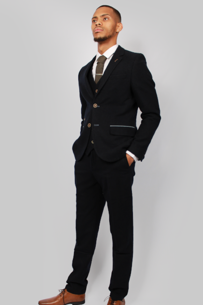 Mario Navy Tweed Suit | Fratelli Uniti - Mens Tweed Suits