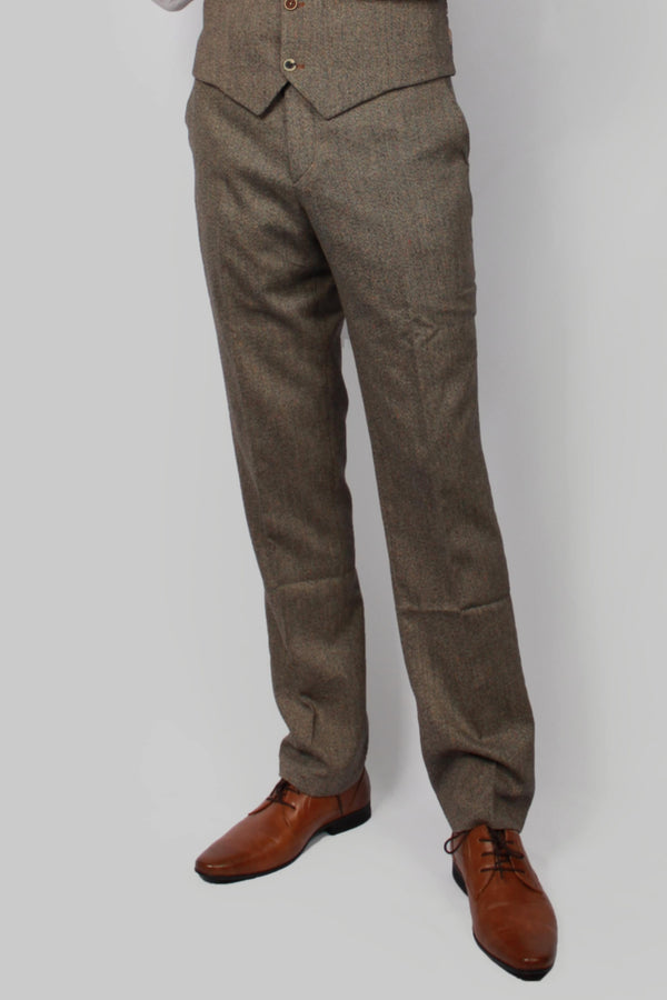 Andre Tan Brown Trousers | Fratelli Uniti | Mens Tweed Suit | shop buy cavani tweed