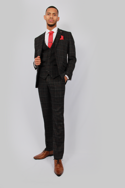 Harvey Grey Tweed Suit | Paul Andrew - Mens Tweed Suits