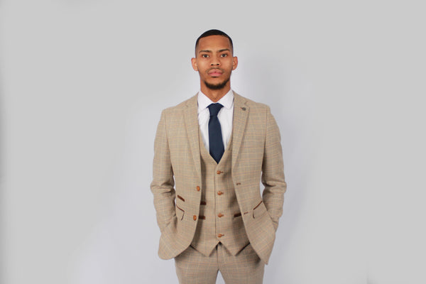 Holland Tweed Suit | Paul Andrew | Mens Tweed Suits CREAM BROWN FREE DELIVERY 2018 suits 2019 shop buy tie menstweedsuits.com