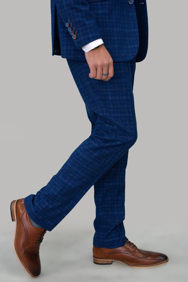 Kaiser Blue Slim Fit Trousers