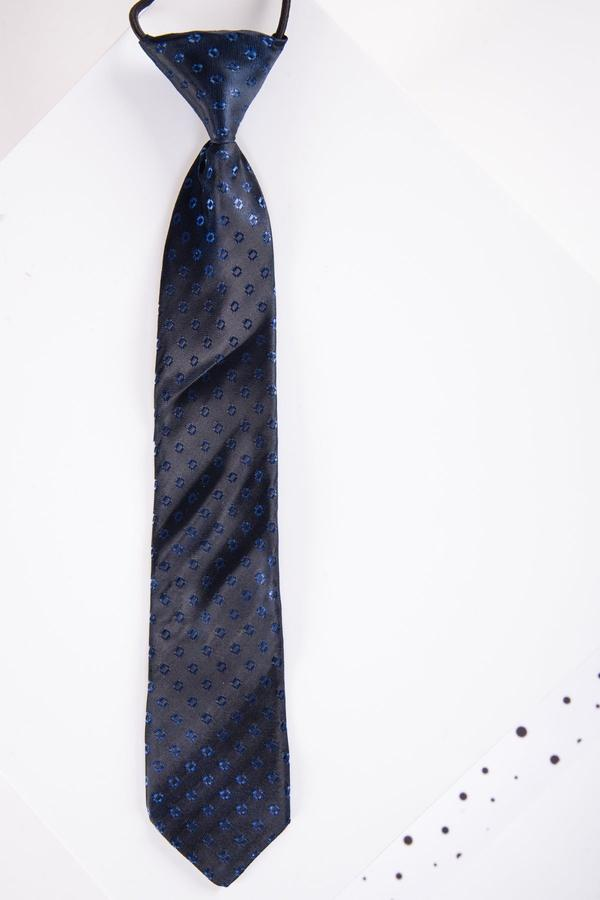 Childrens Navy Spot Print Tie