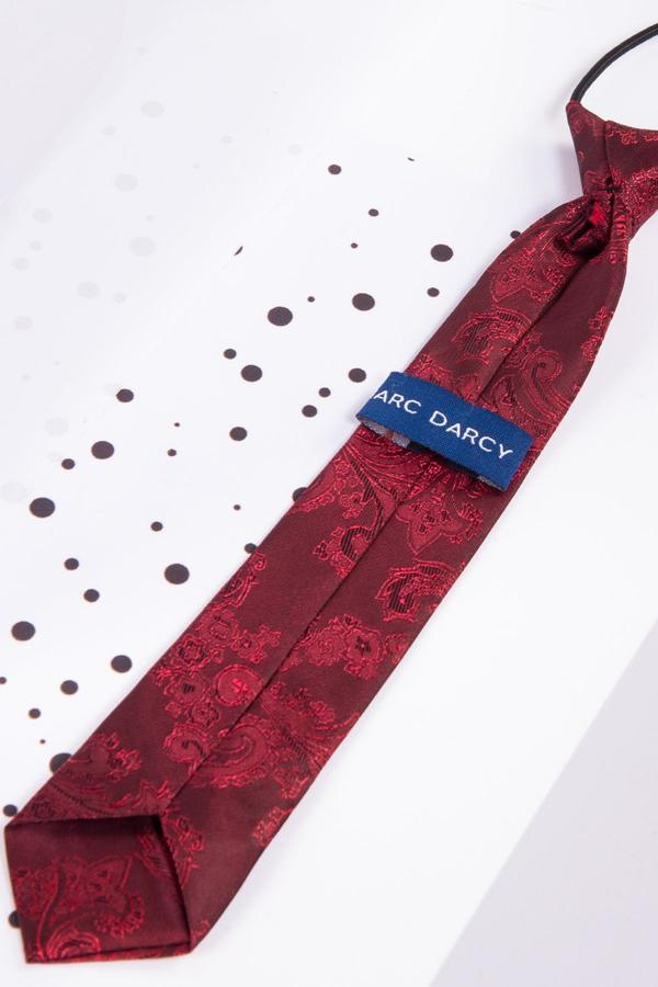 Childrens Wine Paisley Print Tie