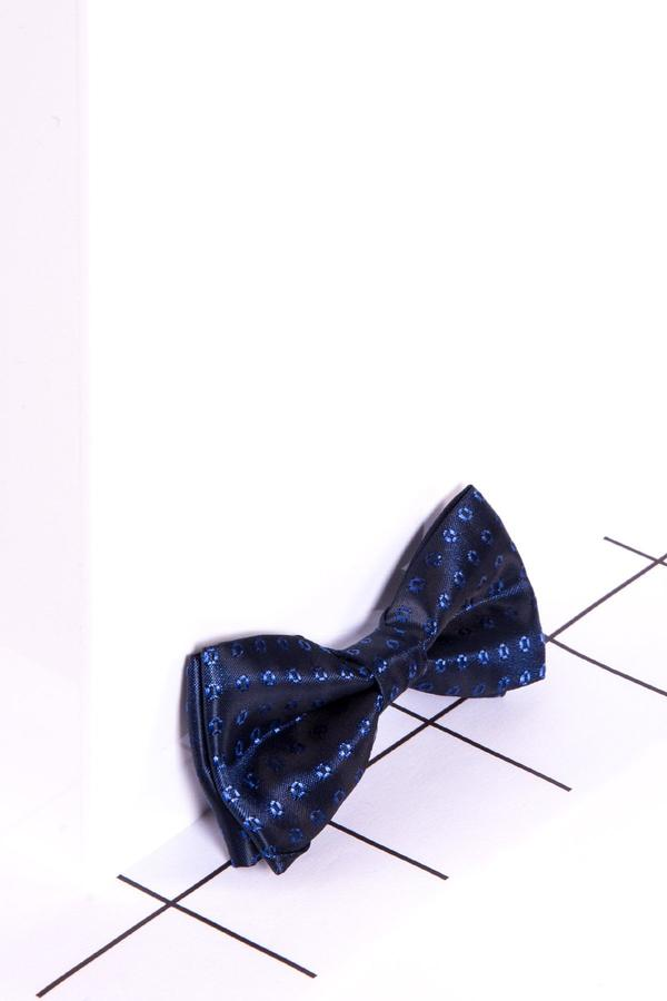 Childrens Navy Spot Print Bow Tie - Mens Tweed Suits