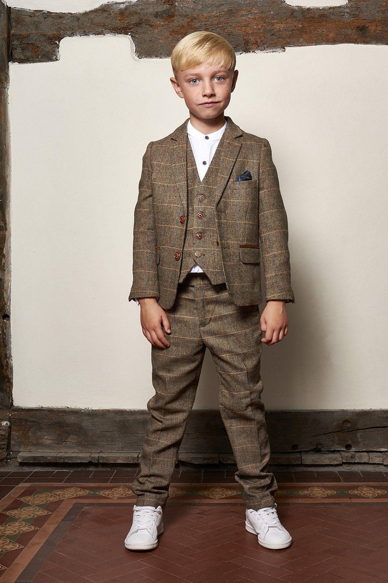 Boys Tweed Wedding Suits | Father And Son Suits | Mens Tweed Suits