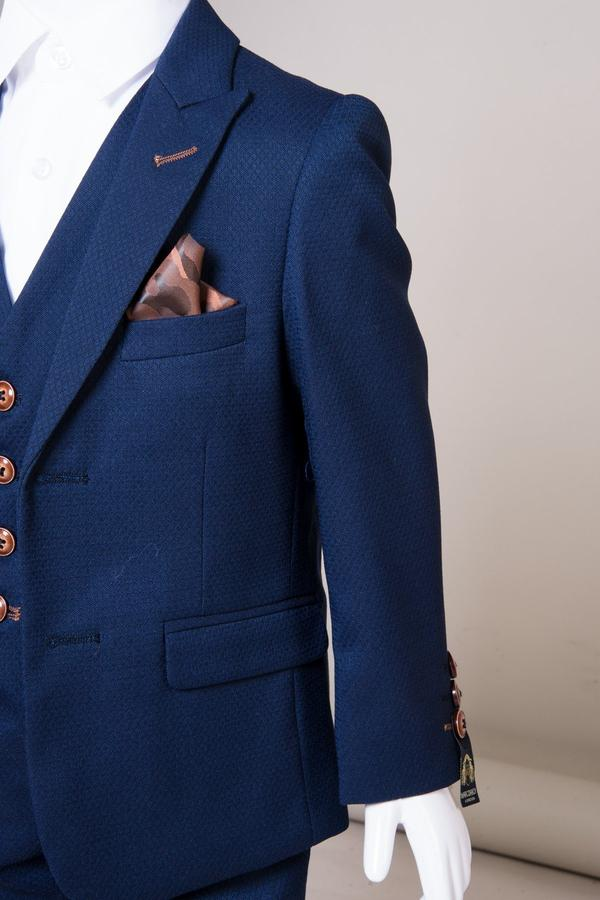 MAX - Childrens Royal Blue Three Piece Suit | Marc Darcy - Mens Tweed Suits