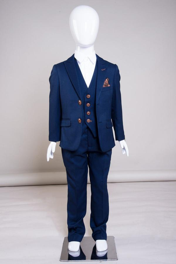 MAX - Childrens Royal Blue Three Piece Suit | Marc Darcy
