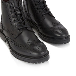 London Brogues Billy Boot Black | Mens Brogue Boots | Mens Tweed Suits