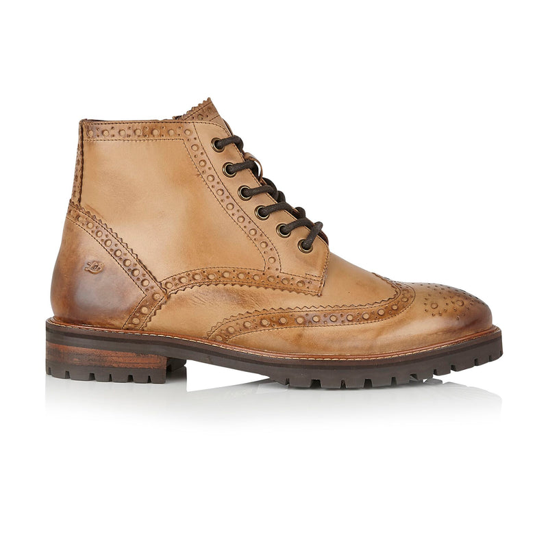 London Brogues Billy Boot Tan