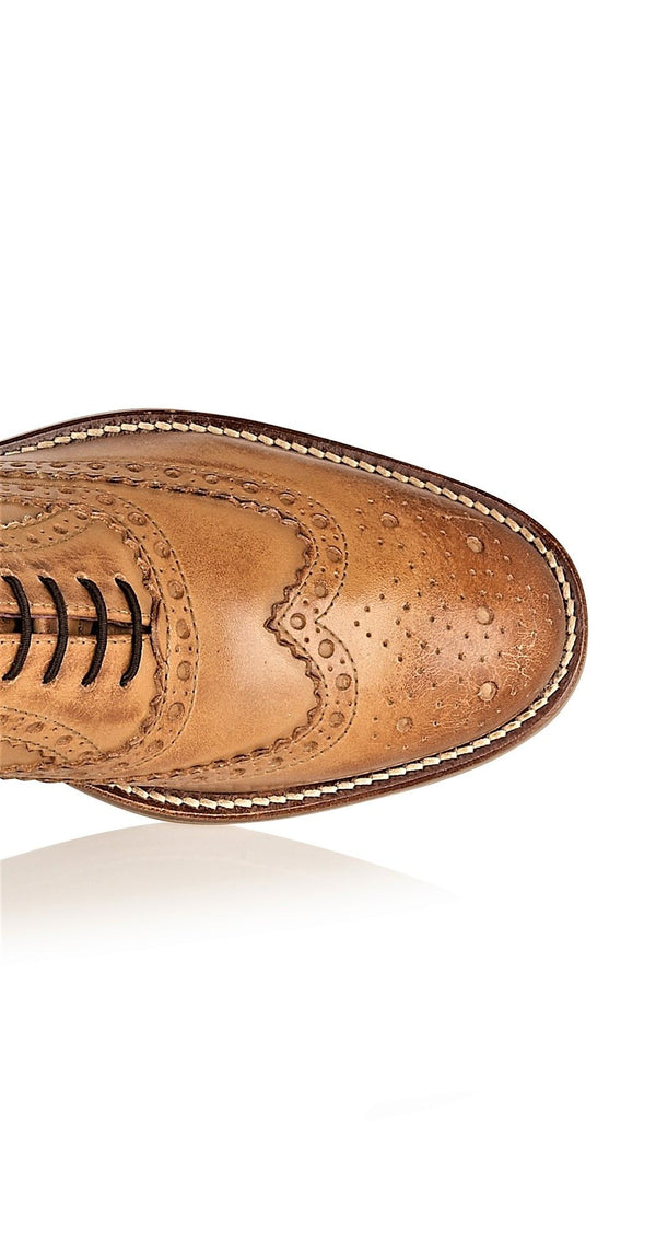 Boys Tan Leather Brogues | Boys Footwear | Boys Shoes | Mens Tweed Suits