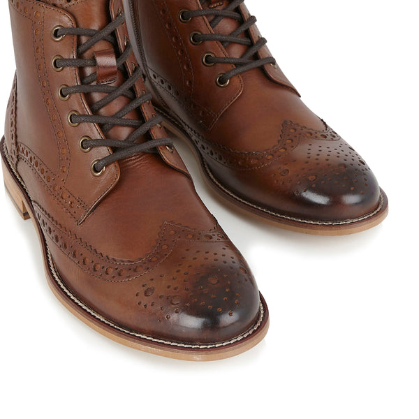 London Brogues Chestnut Boots | Mens Brogue Boots | Mens Tweed Suits