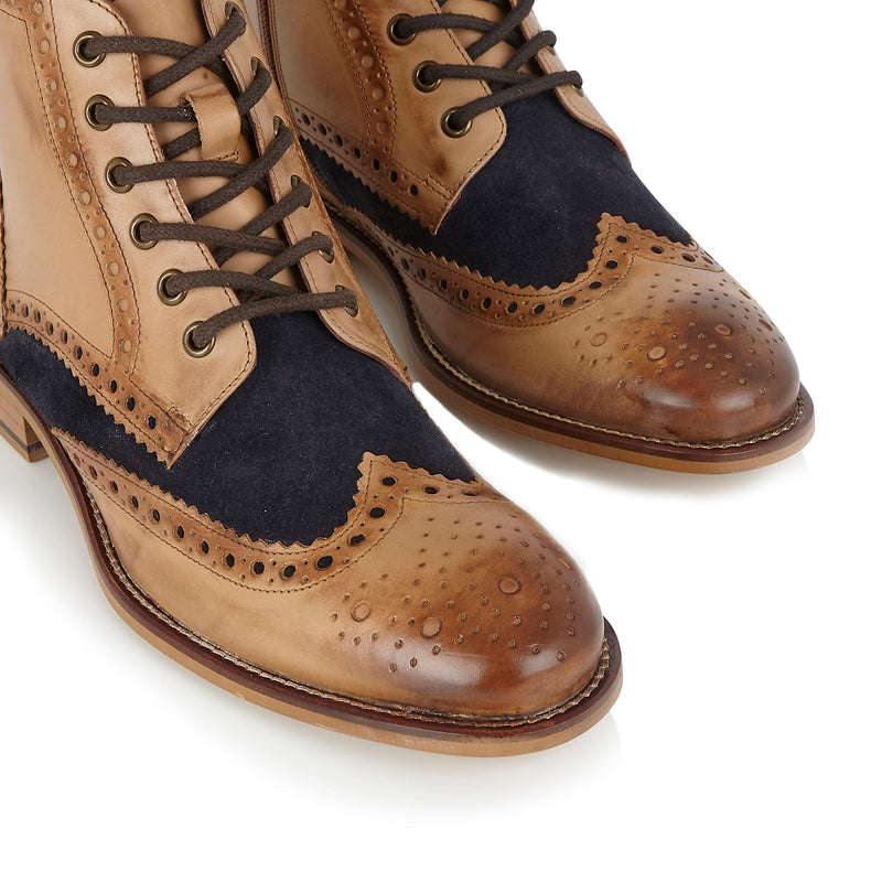 London Brogues Gatsby Boot | Mens Brogue Boots | Mens Tweed Suits