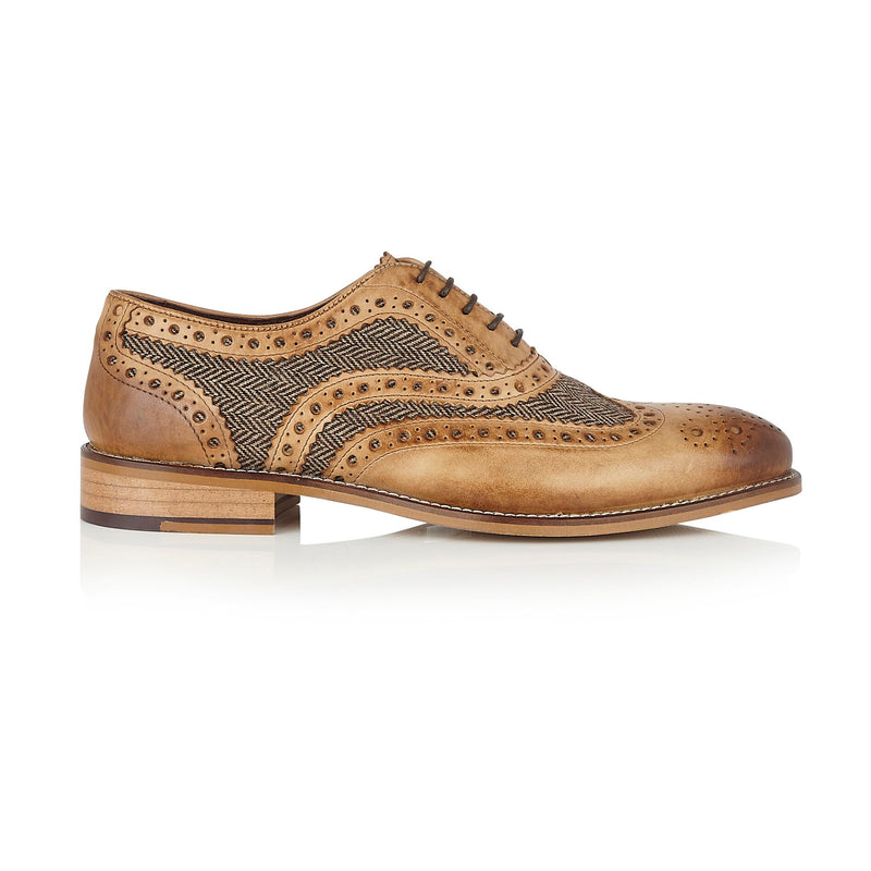 Brown Tweed Brogue Shoes | London Brogues | Mens Tweed Suits