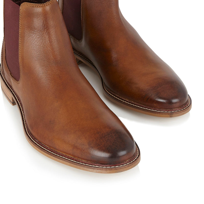 Mens Chestnut Chelsea Boots | London Brogues | Mens Tweed Suits