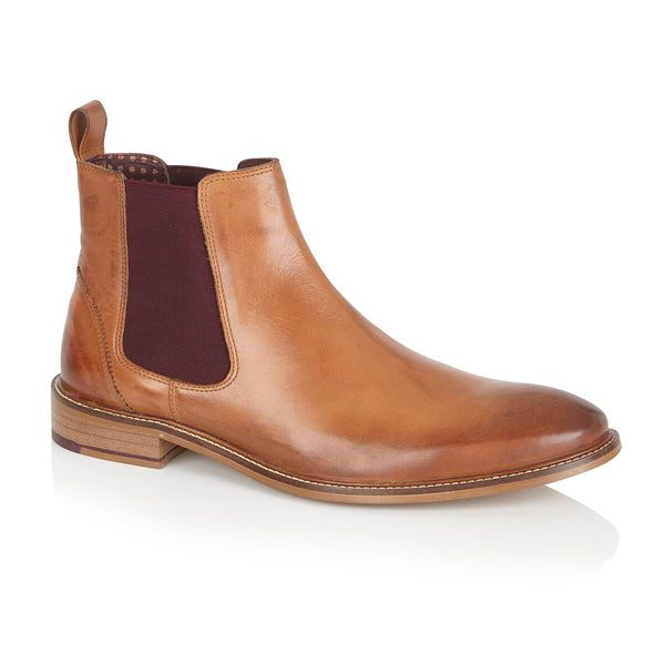 London Brogues Tan Chelsea Boot