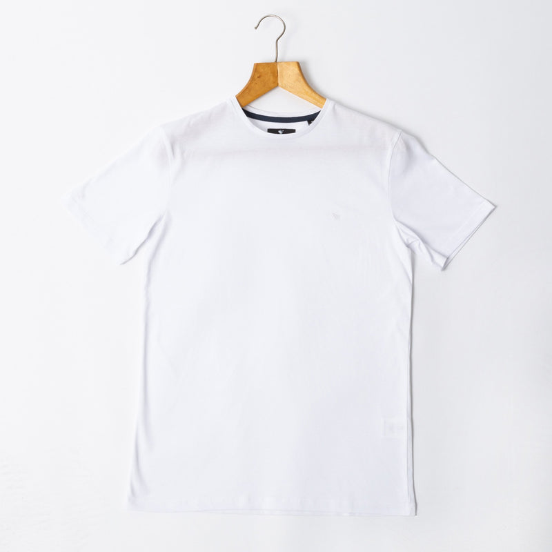 MENS White  CREW NECK COTTON Handmade Goodwin Smith Tee | Menstweedsui