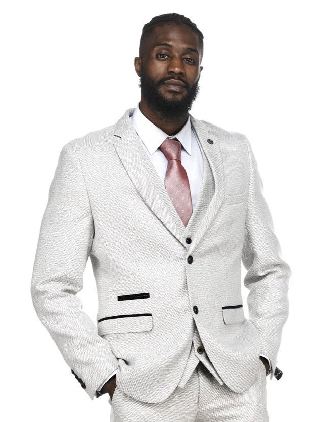 Stone Beige 3 Piece Wedding Suits | Mens Tweed Suits | Marc Darcy Menswear