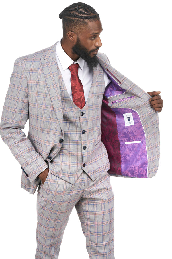 Pink Check Blazer | Tweed Jackets | Marc Darcy Menswear | Mens Tweed Suits