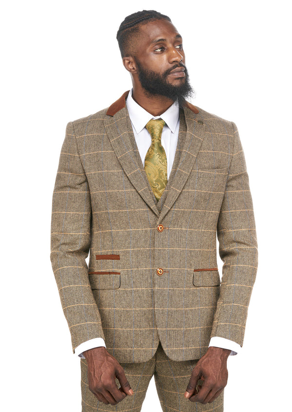 Brown Tweed Peaky Blinder Suits | Vintage Tweed Wedding Suits | Marc Darcy Menswear | Marc Darcy DX7 Suit