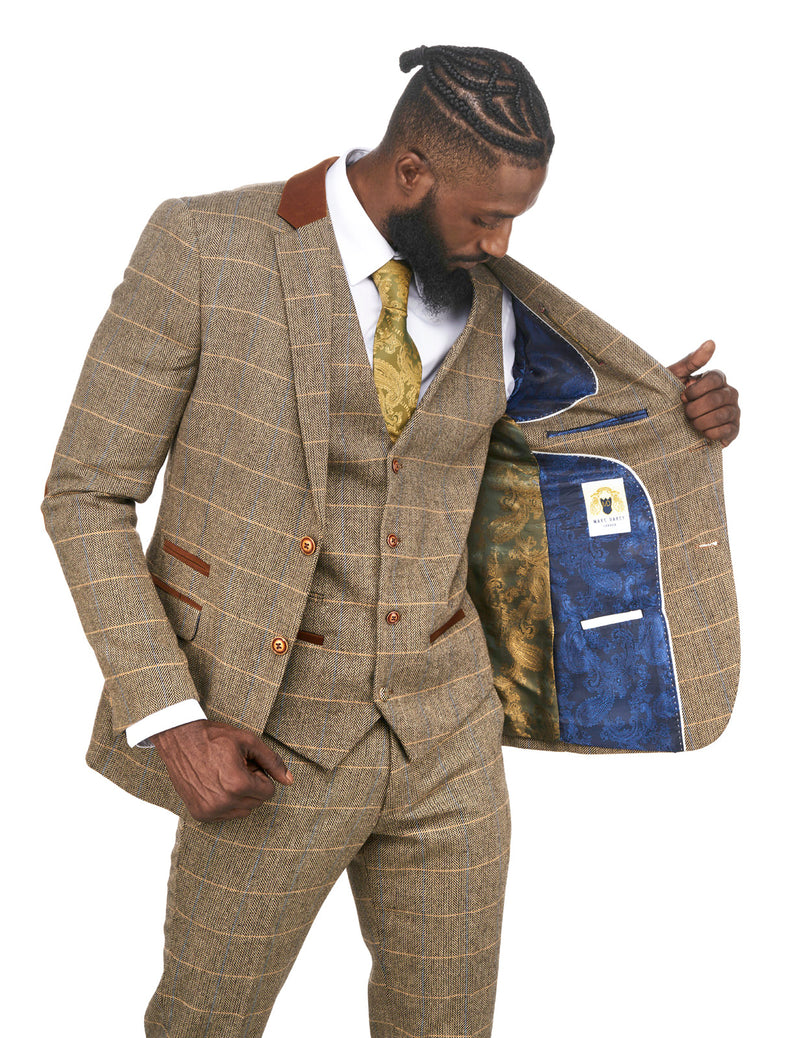 Brown Tweed Wedding Suits | Mens Tweed Suits | Marc Darcy Menswear | Marc Darcy DX7 Suit