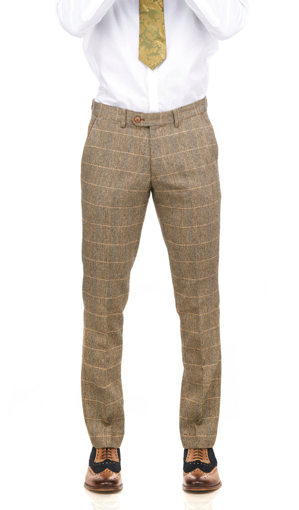 Brown Tweed Trousers | Mens Tweed Trousers | Mens Tweed Suits | Marc Darcy Menswear