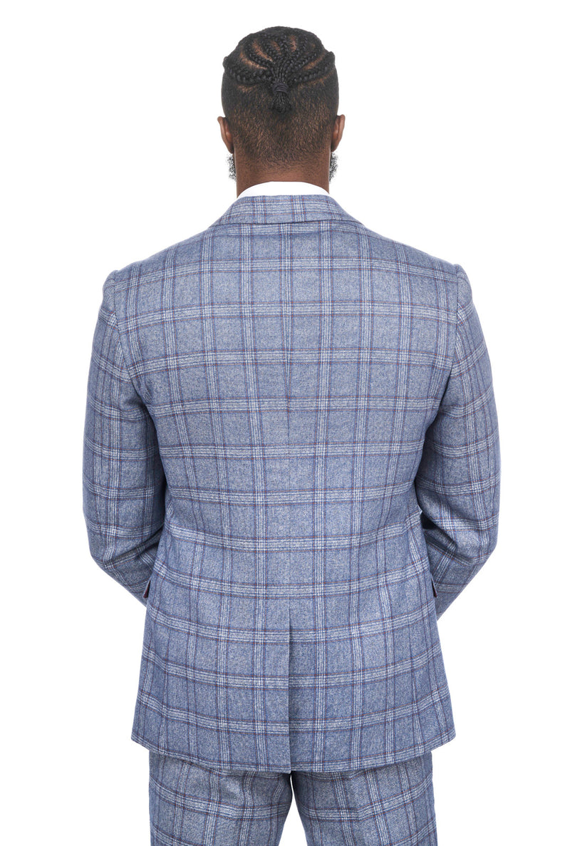 Abbott Blue Tweed Check Blazer