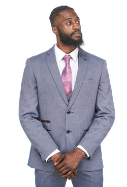 Marc Darcy | Wilson Navy Birdseye Blazer | Mens Tweed Suits