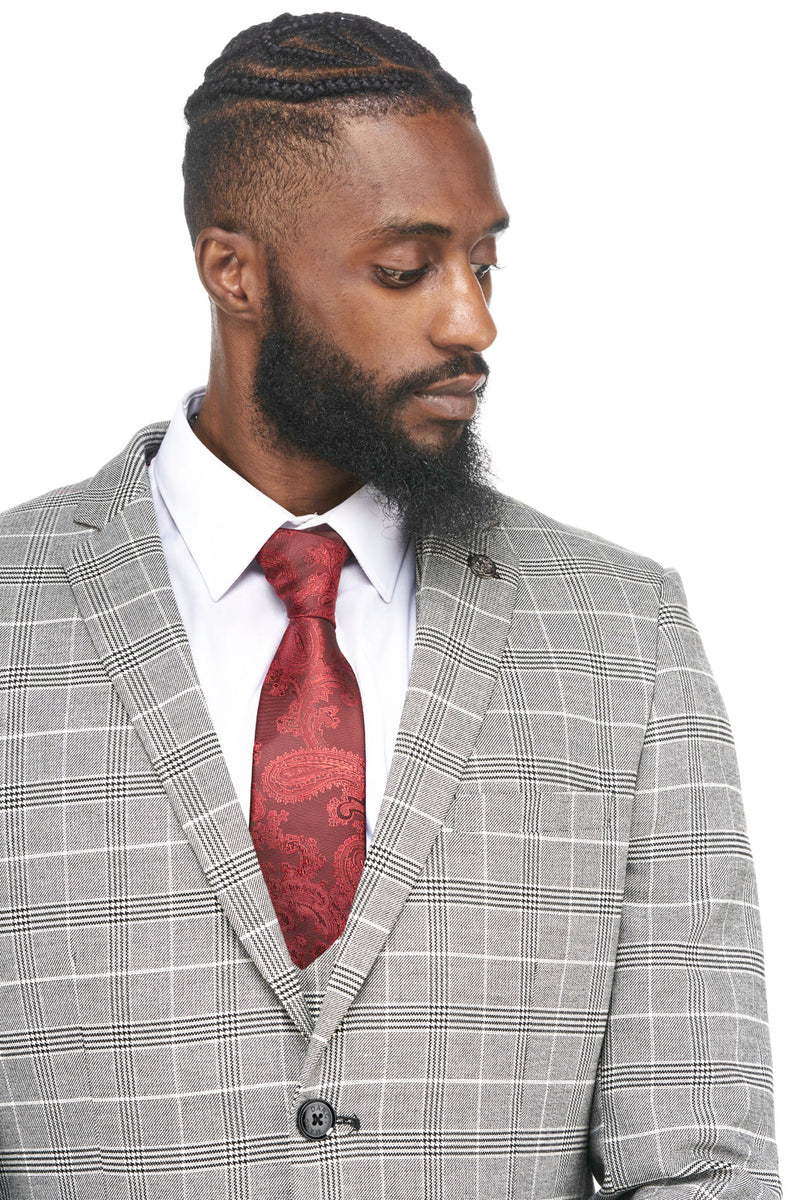 Grey and Black Tweed Wedding Suit | Mens Tweed Suits | Marc Darcy Suits