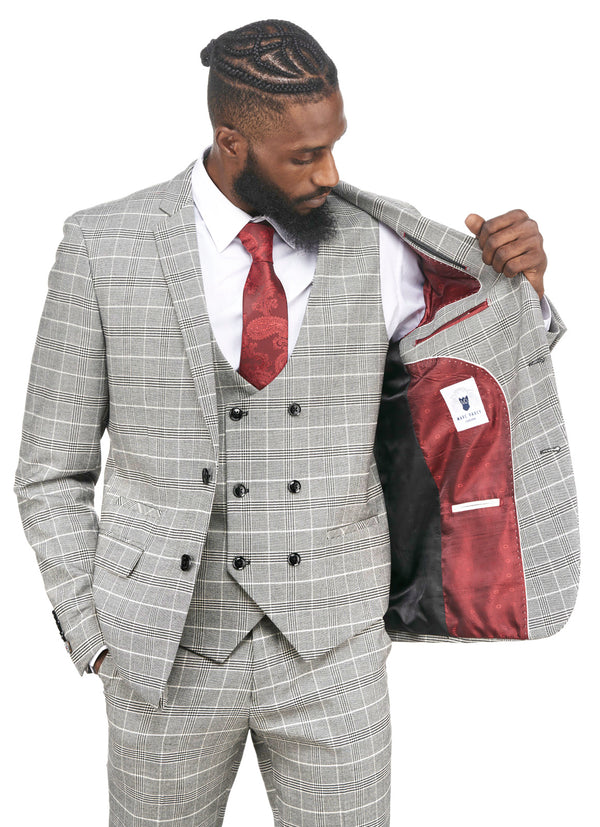 Grey Black Tweed Check Blazer | Mens Tweed Jackets | Mens Tweed Suits | Mens Tweed Suits