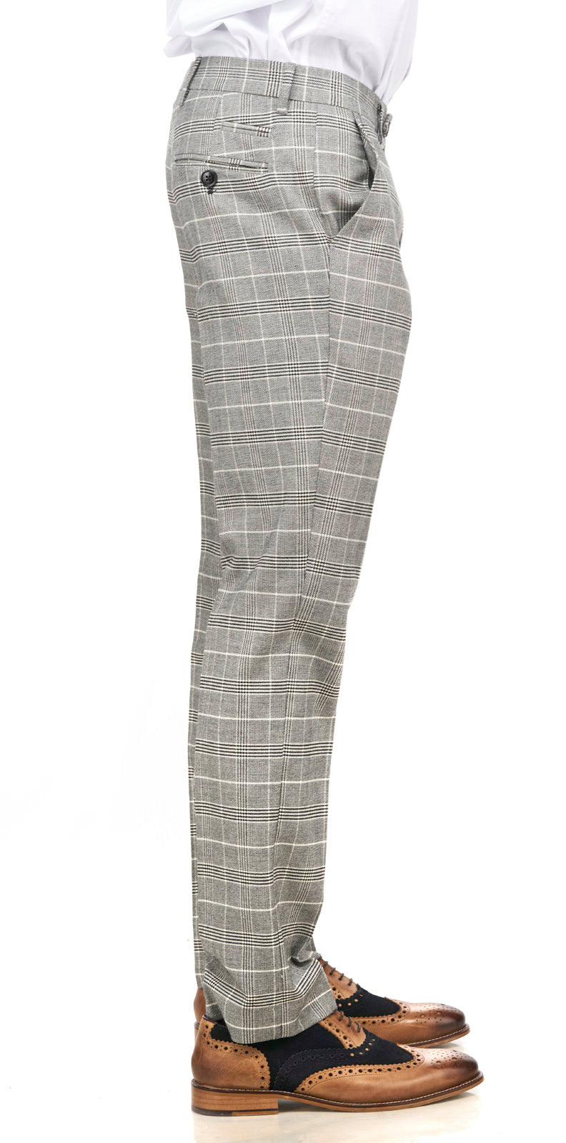 Grey Tweed Trousers | Mens Tweed Trousers | Mens Tweed Suits | Marc Darcy Menswear