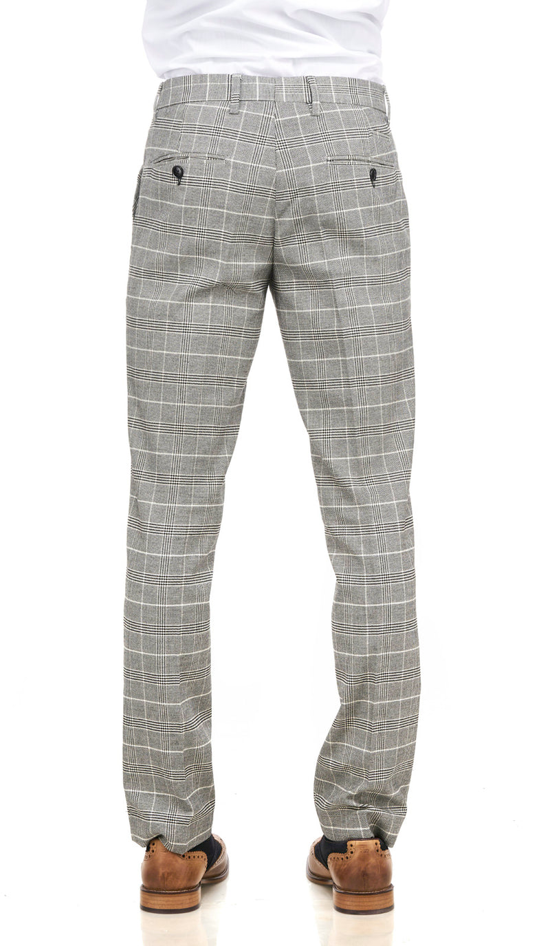 Ross Grey Check Trousers