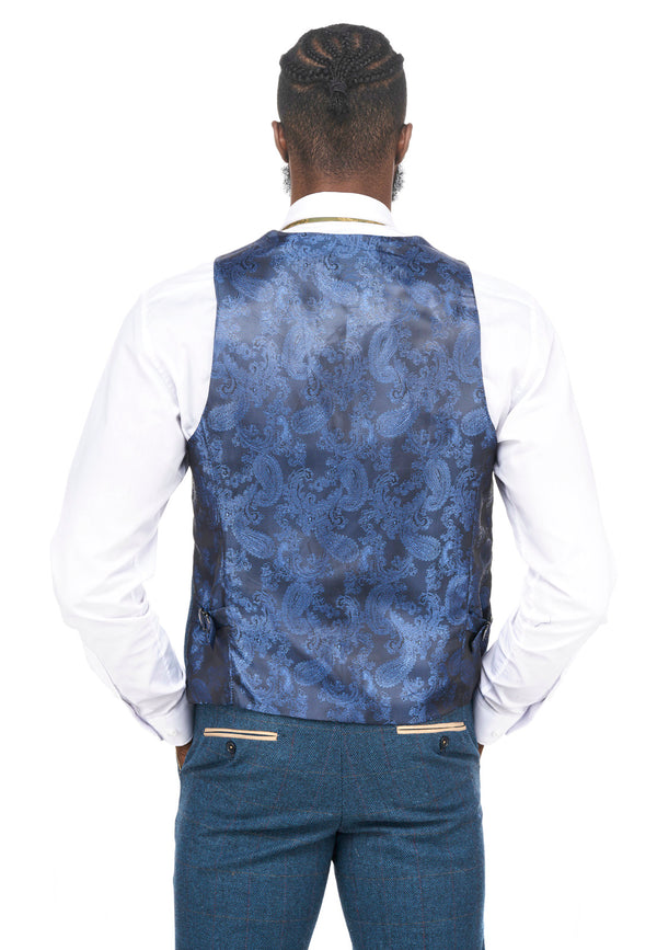 Blue Tweed Waistcoats | Mens Tweed Waistcoats | Mens Tweed Suits | Marc Darcy Suits