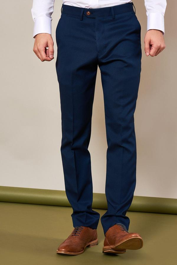 Max Royal Blue Three Piece Suit | Marc Darcy - Mens Tweed Suits