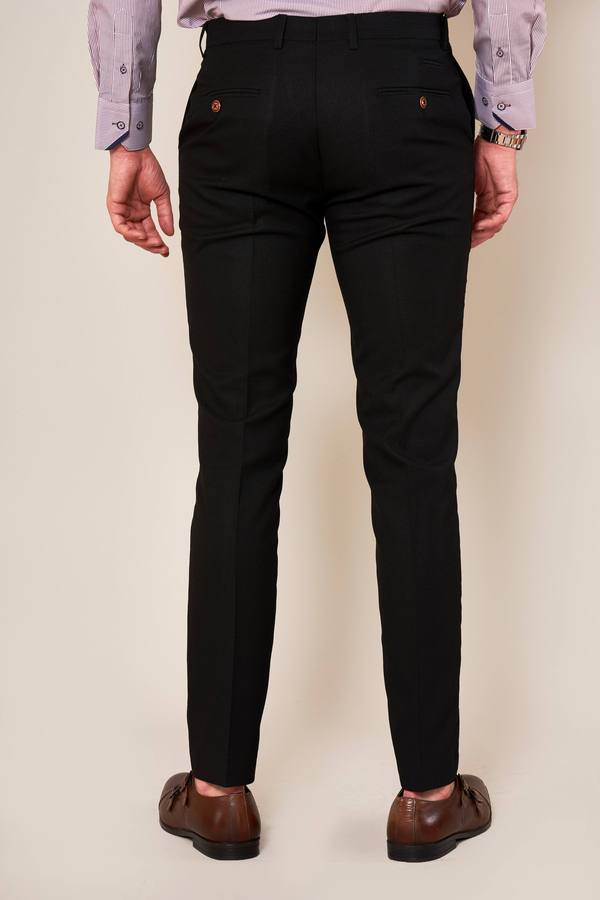 Max Black Skinny Fit Trousers | Marc Darcy - Mens Tweed Suits