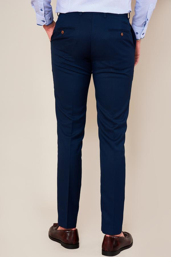 Max Royal Blue Skinny Fit Wedding Trousers | Marc Darcy - Mens Tweed Suits