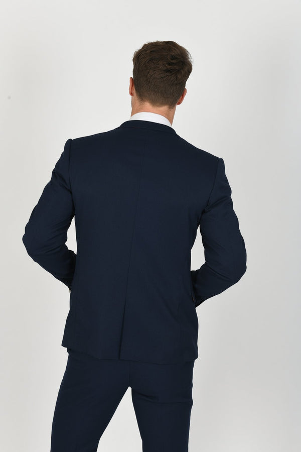 Max Royal Blue Blazer with Contrast Buttons | Marc Darcy