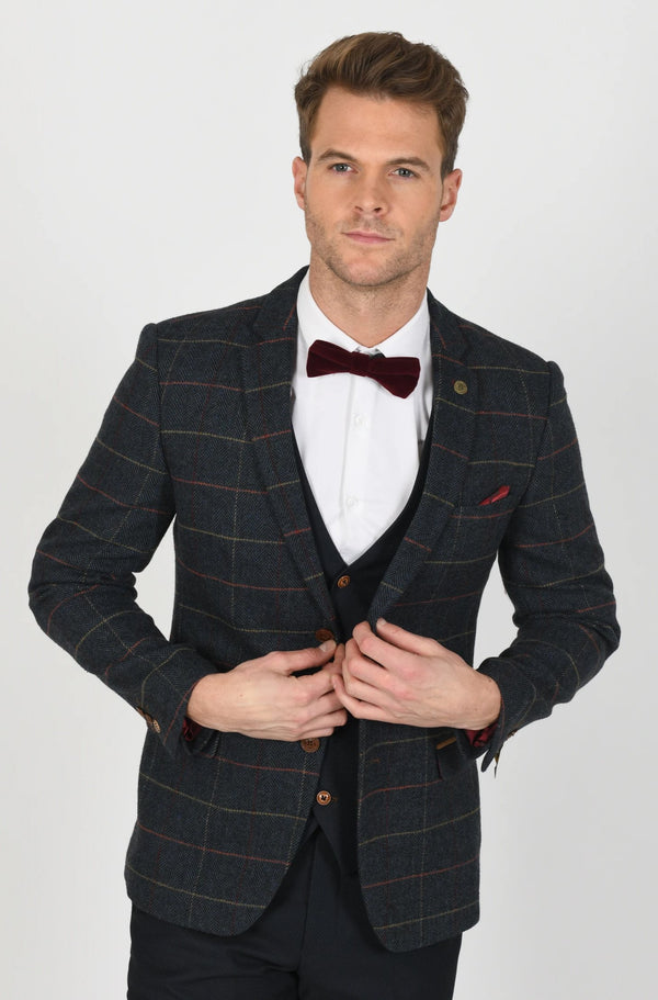 ETON JACKET WITH MAX NAVY SUIT | MENS TWEED SUITS - Mens Tweed Suits