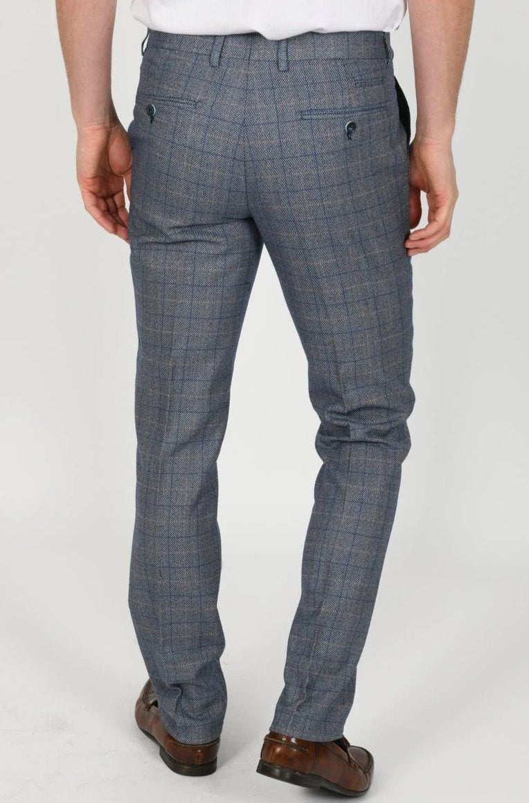 Blue Check Tweed Peaky Blinder Suits | Mens Tweed Suits | Marc Darcy Menswear | Marc Darcy Harry Blue
