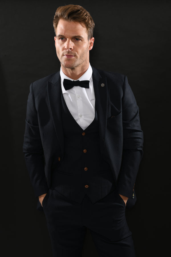 Max Plain Navy Suit | Marc Darcy
