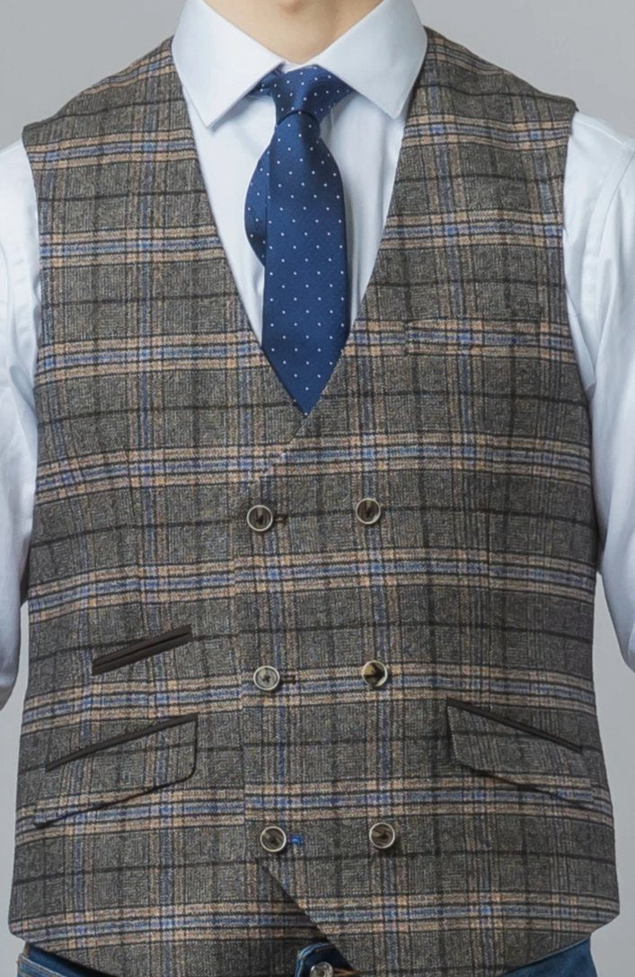 Mens Grey Tweed Suit | Mens Tweed Wedding Suits | Robert Simon Suits