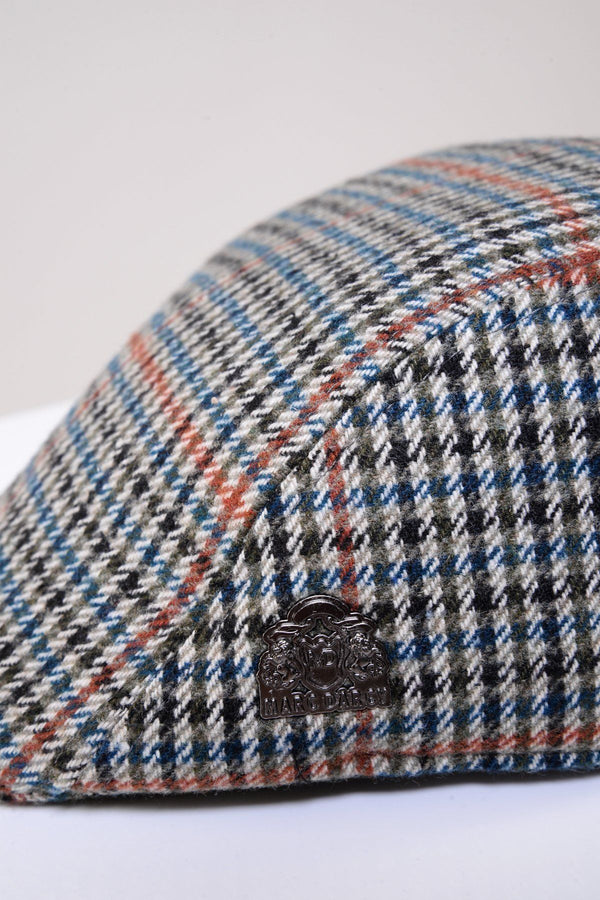 Eddie Teal Check Flat Cap - Mens Tweed Suits