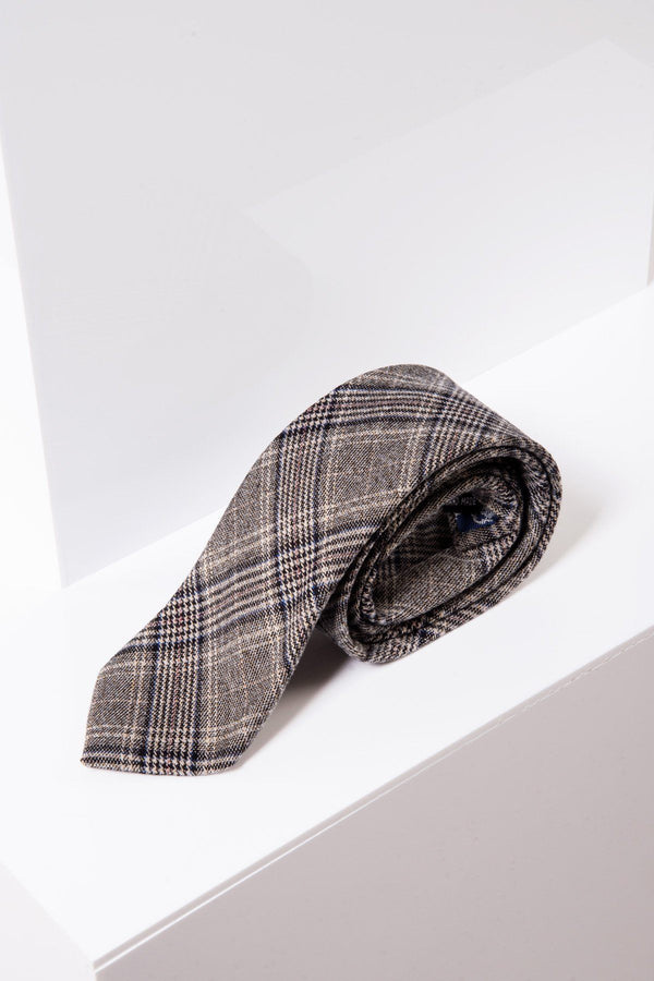 Enzo Tan Tie - Mens Tweed Suits