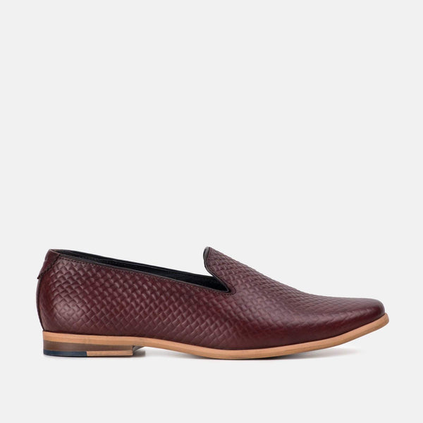 Amalfi Bordo Slip On Loafer Shoe by Goodwin Smith | Mens Tweed Suits