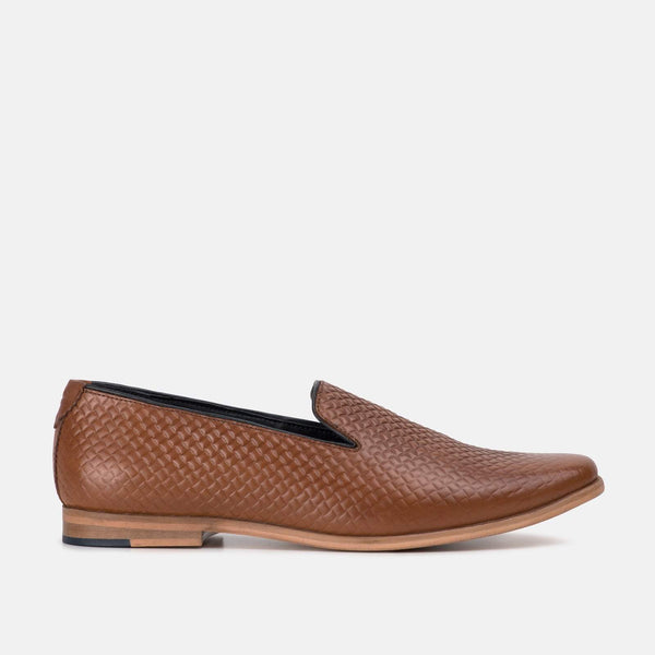 Amalfi Black Slip On Loafer Shoe by Goodwin Smith | Mens Tweed Suits